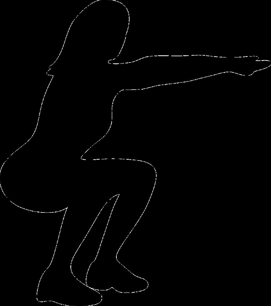 Posture d'un squat sans haltères